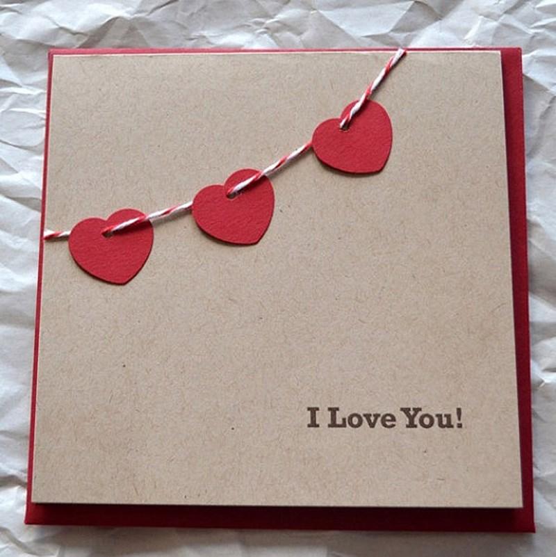 Thiệp handmade tặng vợ hoặc người yêu - I love you