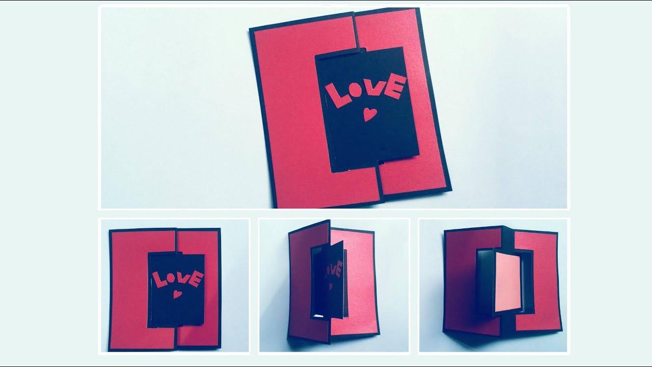 Thiệp handmade xoay 180 độ với chữ Love đong đầy yêu thương