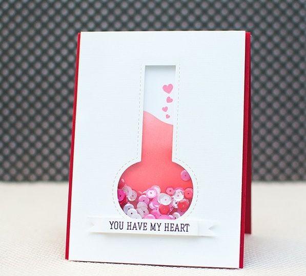 Thiệp handmade you have my heart - em đã nắm giữ trái tim của tôi