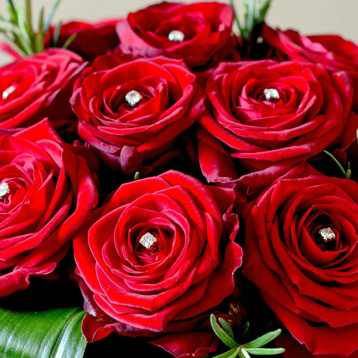 Bó hoa hồng đỏ thắm