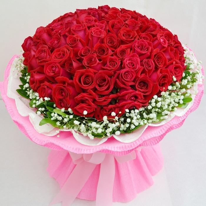 Hình ảnh bó hoa hồng đỏ đẹp