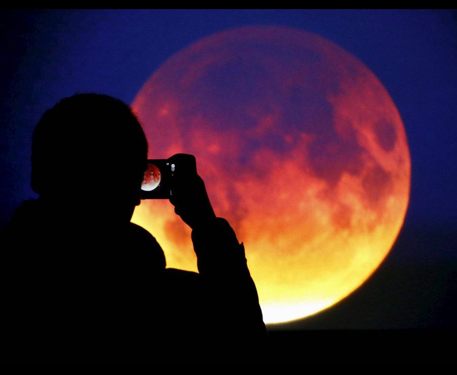Hình ảnh mặt trăng máu cực đẹp