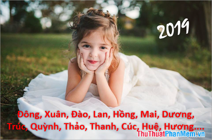 Đặt tên con gái năm 2019 hợp mệnh