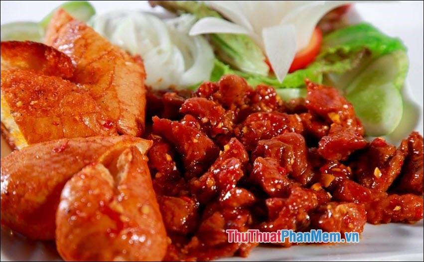 Thịt bò nướng Lạc Canh