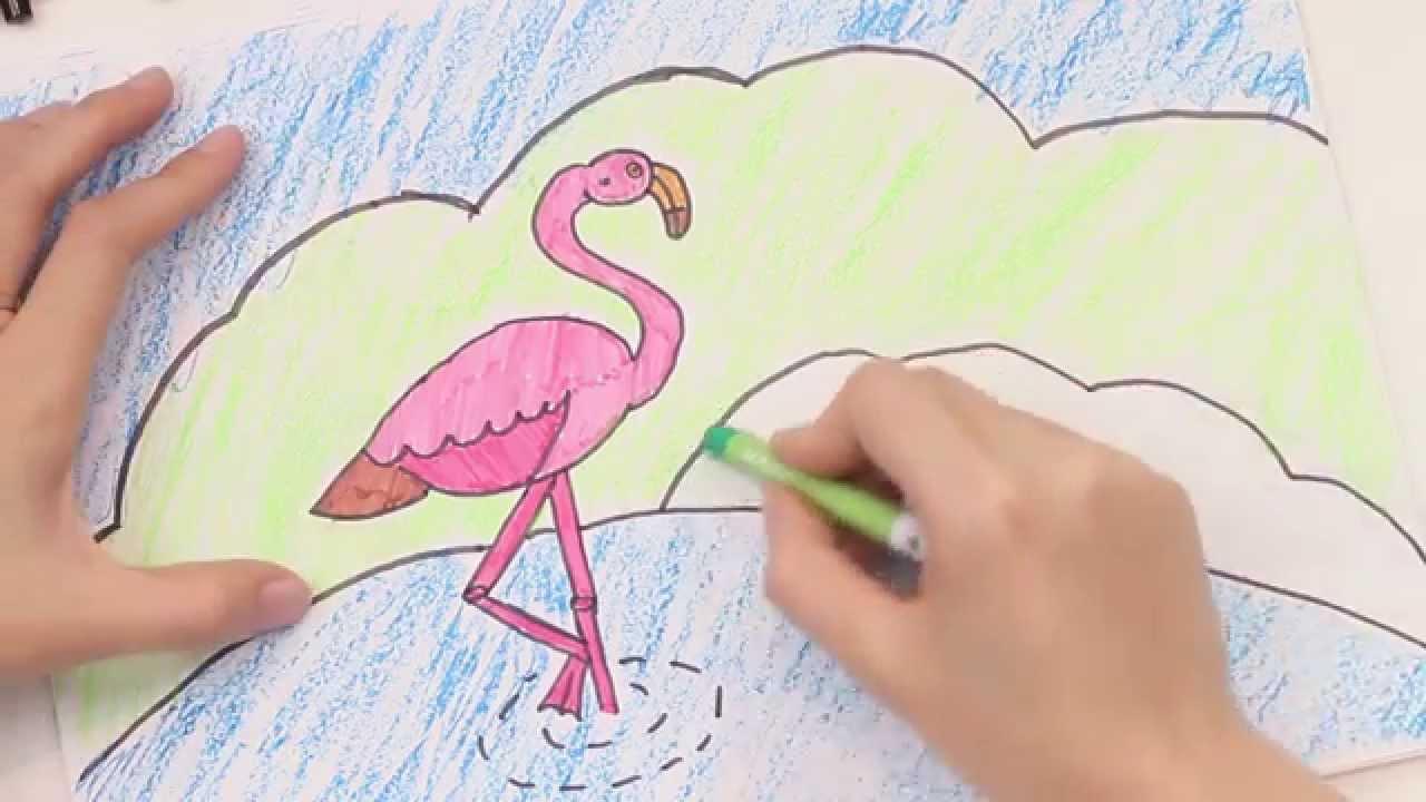 Những hình ảnh vẽ chim hồng hạc đẹp nhất