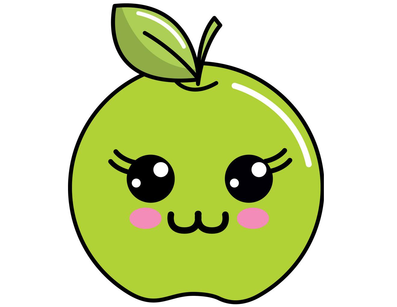 Hình ảnh của quả táo dễ thương