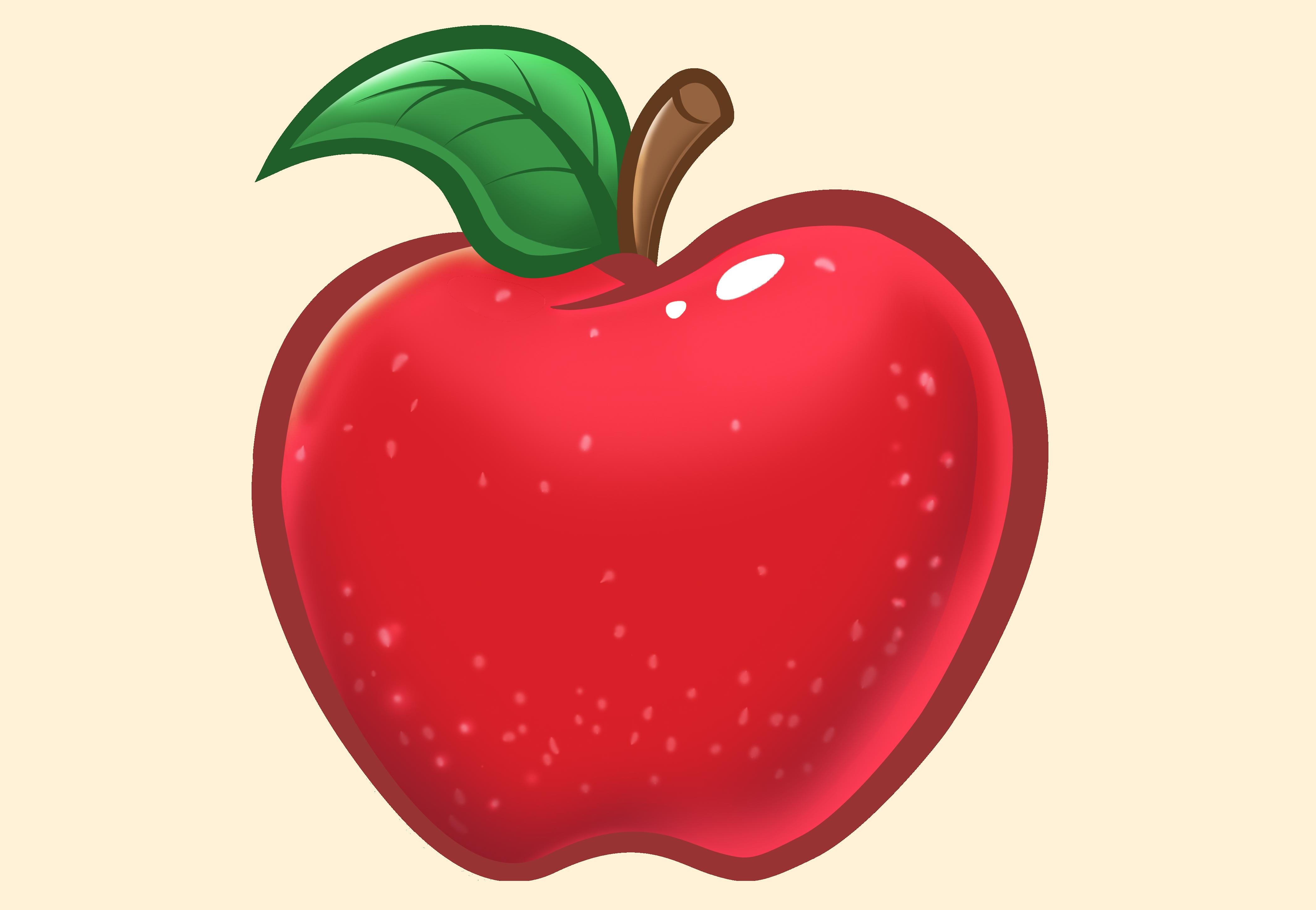 Hình vẽ quả táo cực đẹp
