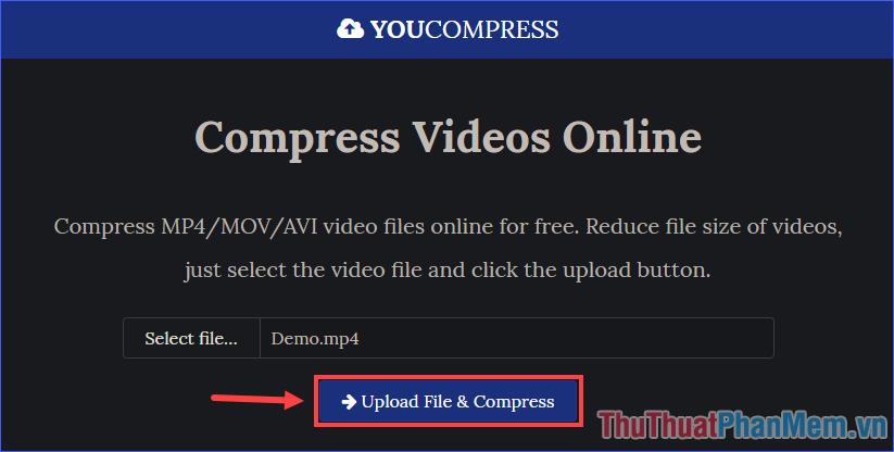 Upload File & Compress