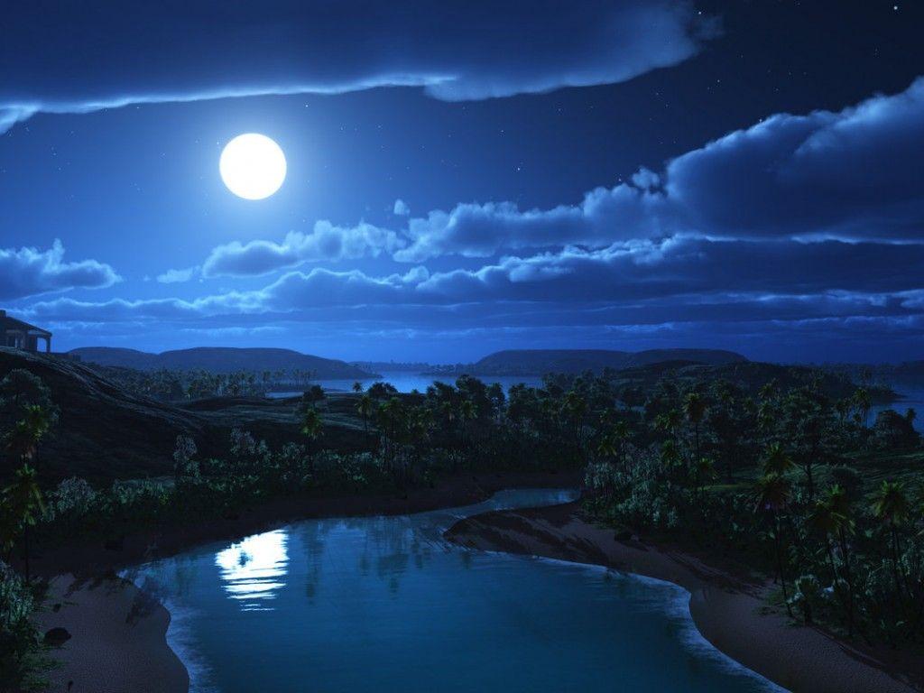 Ảnh đẹp đêm trăng