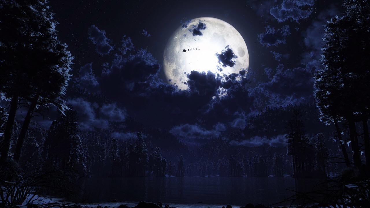 Ảnh đẹp mặt trăng trong đêm