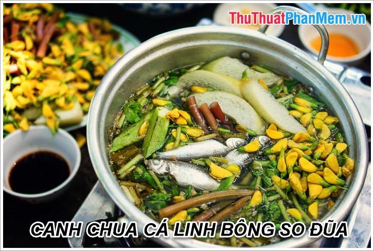 Canh chua cá Linh Bông so đũa