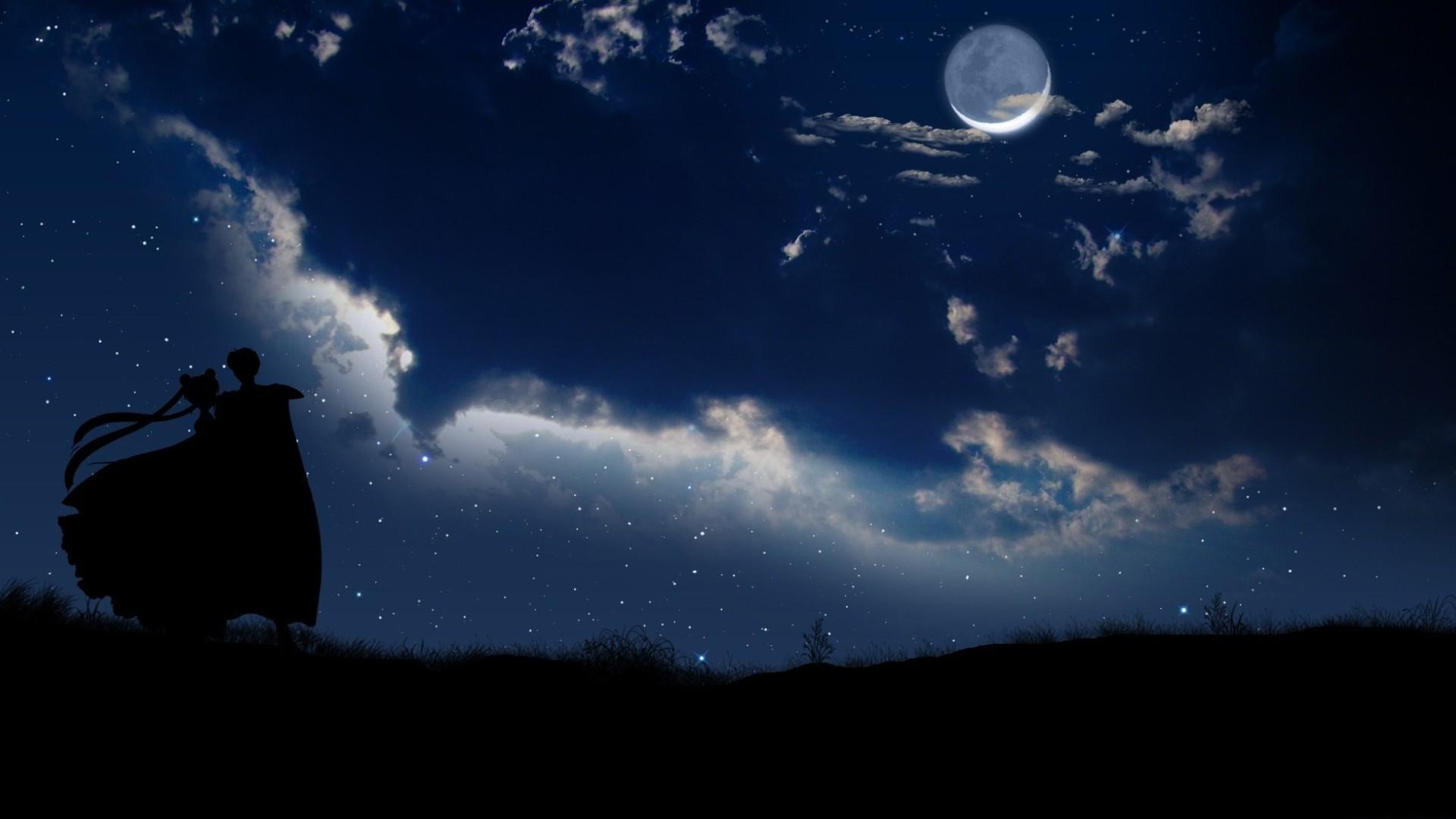 Hình ảnh lãng mạn trong đêm trăng