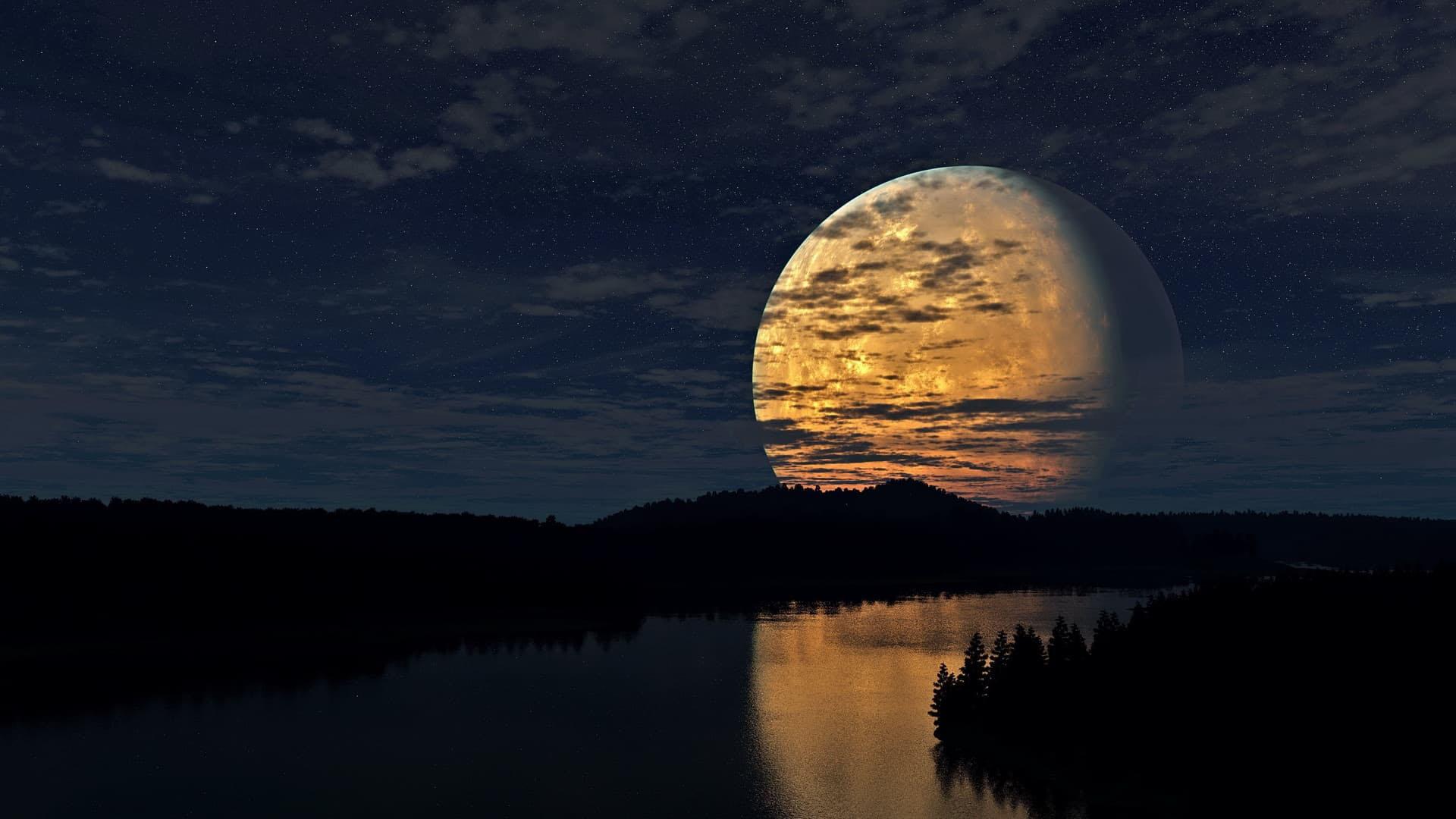 Hình ảnh mặt trăng đẹp, ấn tượng
