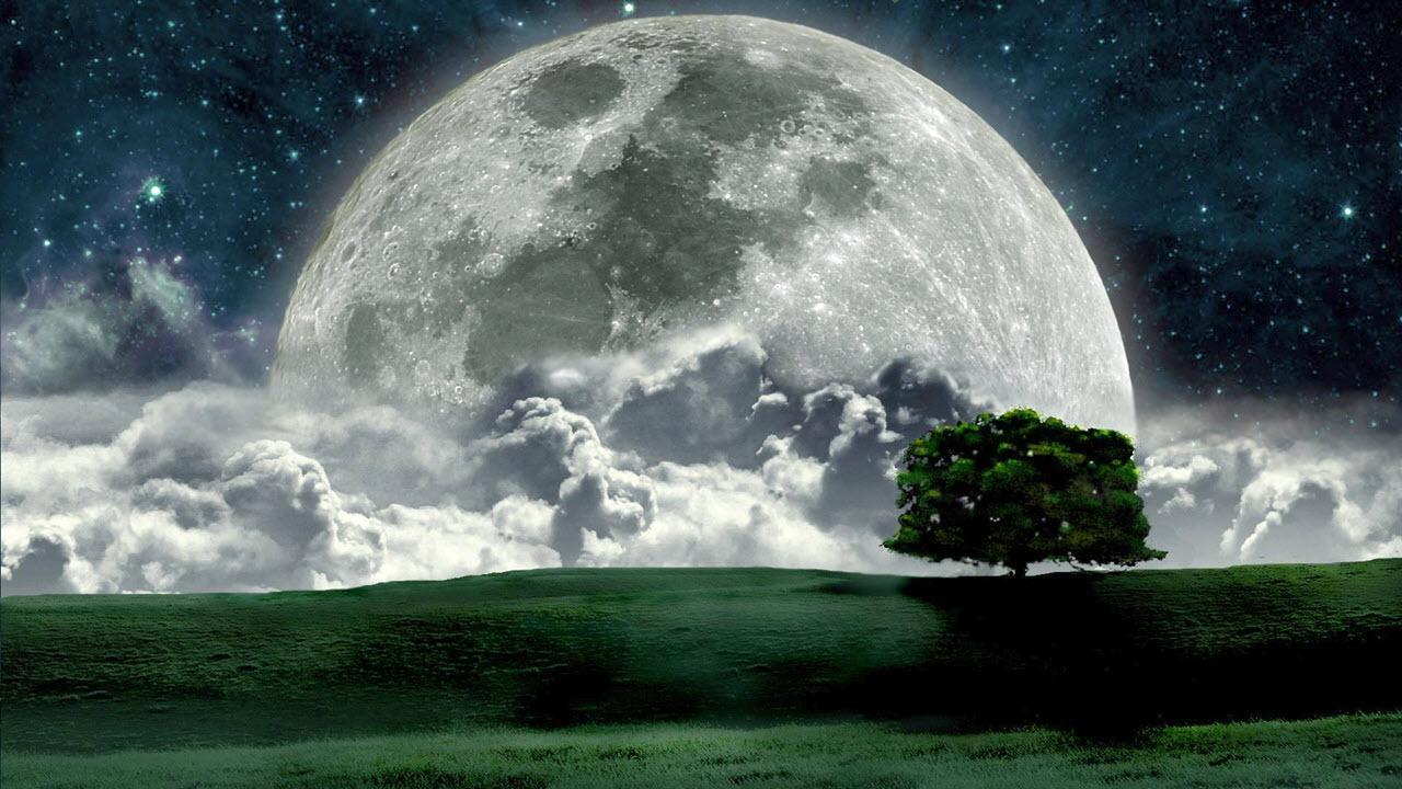 Hình ảnh mặt trăng huyền ảo và đẹp