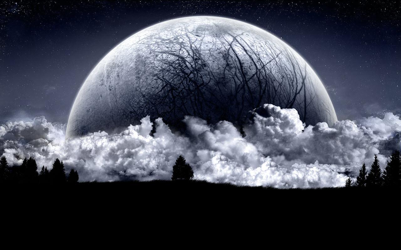 Hình ảnh mặt trăng tối
