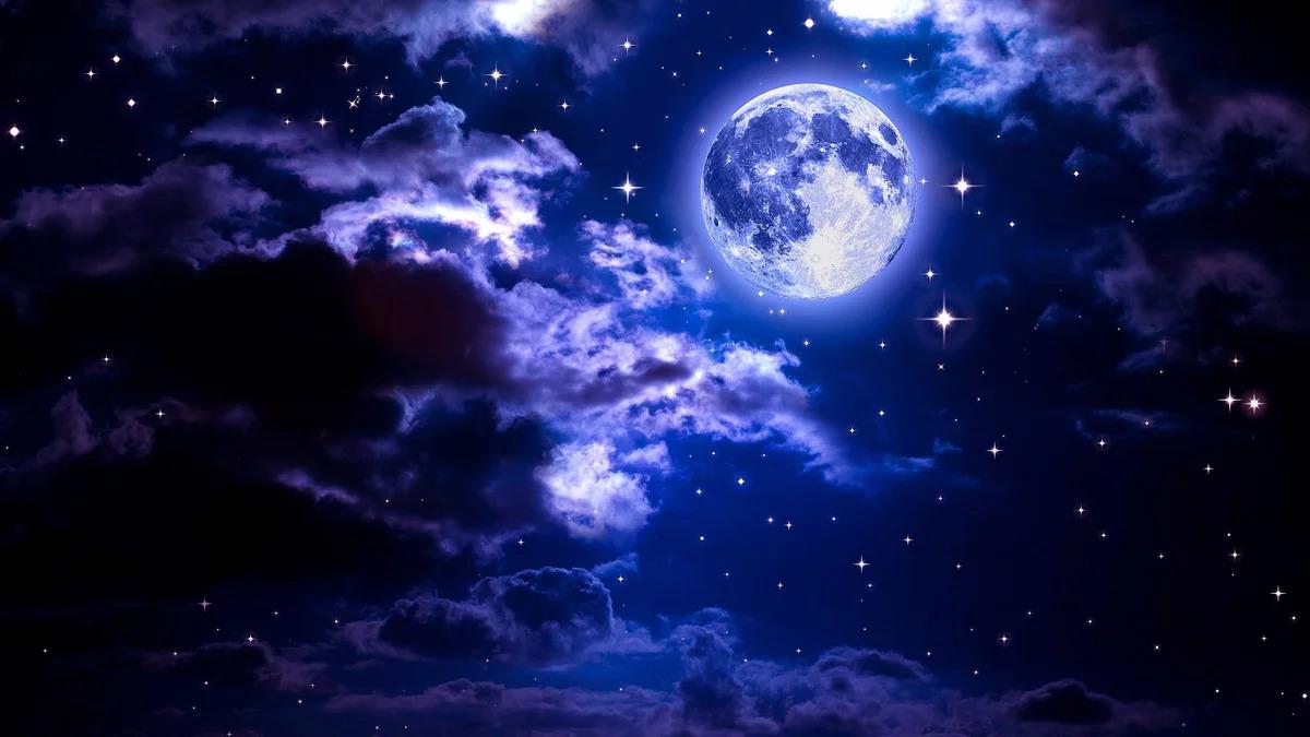 Hình ảnh mặt trăng và bầu trời đẹp