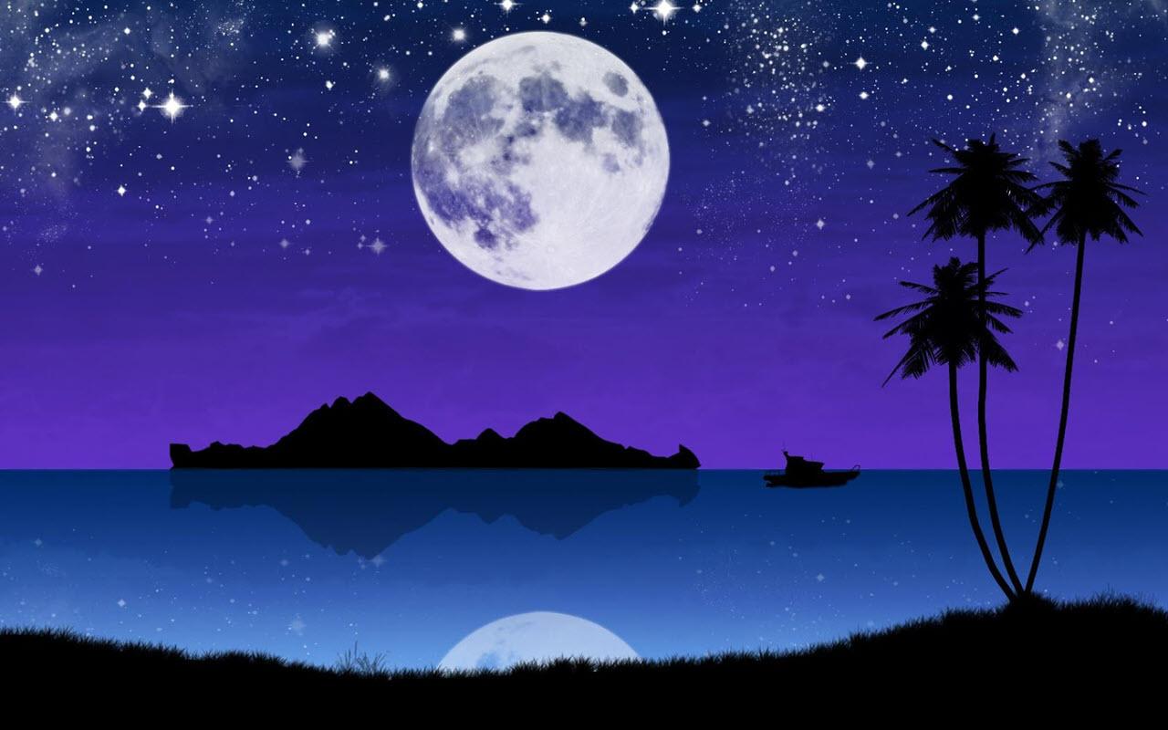 Hình ảnh mặt trăng và các vì sao