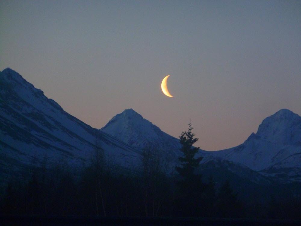 Hình ảnh trăng khuyết đẹp