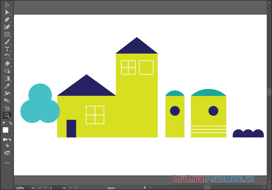 Hướng dẫn vẽ đường thẳng trong Adobe Illustrator (1)