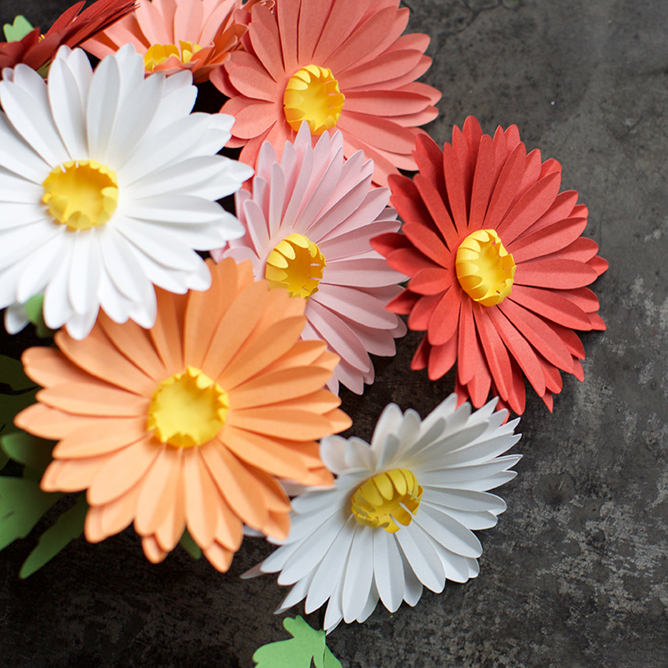 Hình ảnh hoa xuyến chi đẹp nhất làm bằng giấy đủ màu sắc