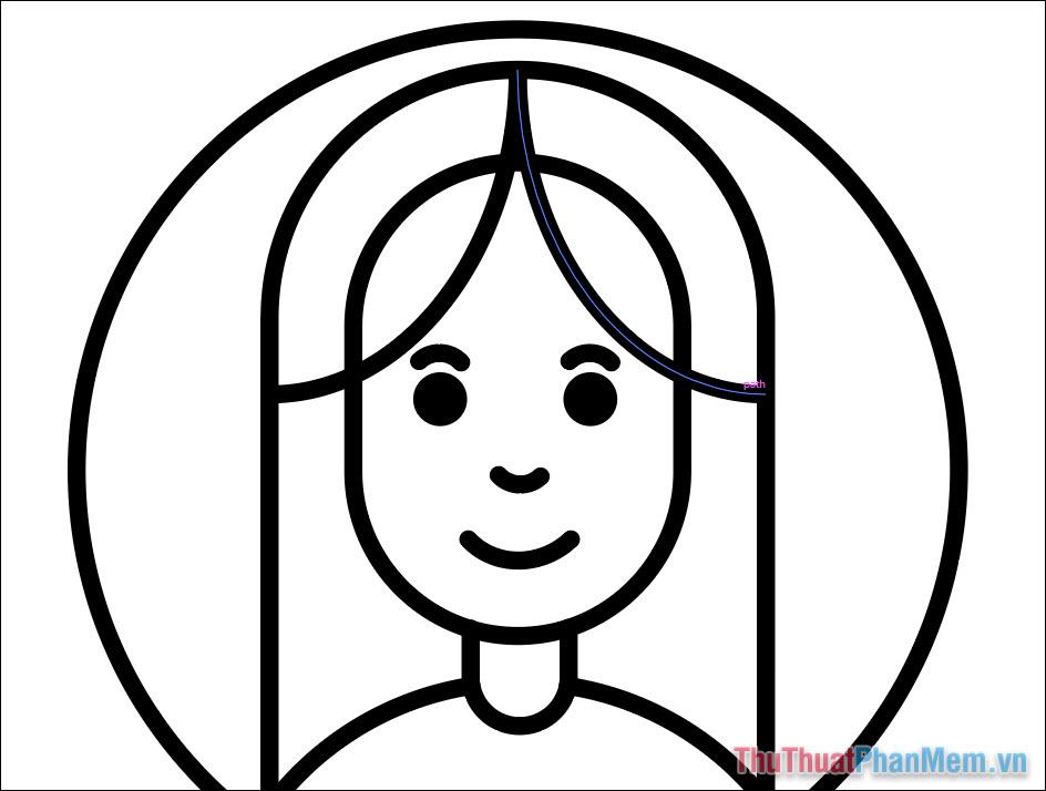 Vẽ hình minh họa avatar cơ bản bằng Adobe Illustrator (22)