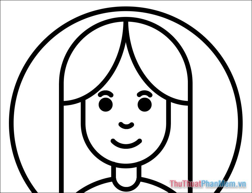 Vẽ hình minh họa avatar cơ bản bằng Adobe Illustrator (23)