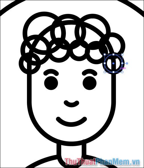 Vẽ hình minh họa avatar cơ bản bằng Adobe Illustrator (24)