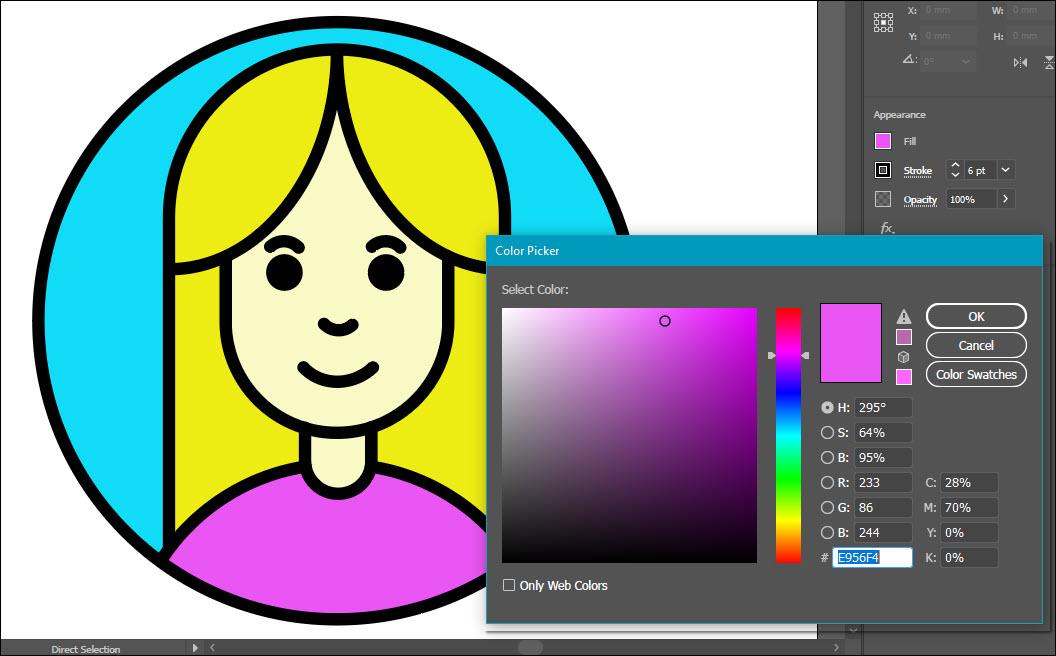 Vẽ hình minh họa avatar cơ bản bằng Adobe Illustrator (30)
