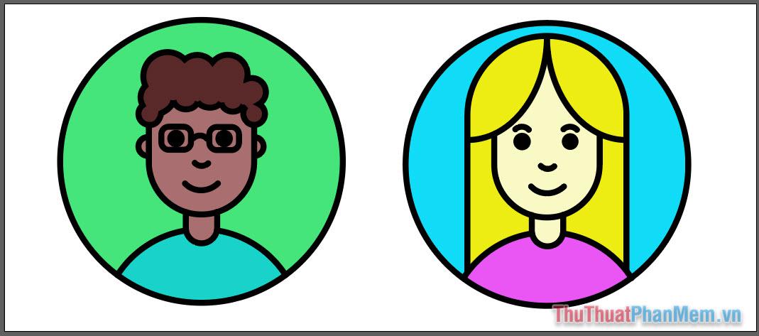 Vẽ hình minh họa avatar cơ bản bằng Adobe Illustrator (31)