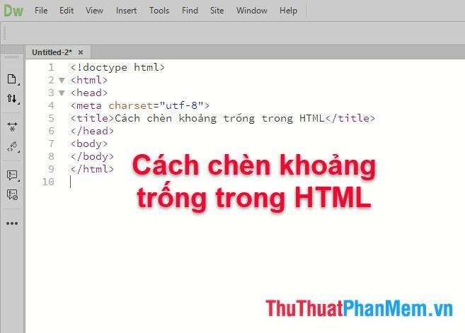Cách chèn khoảng trống trong HTML