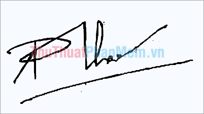 Mẫu chữ ký đẹp tên Phương Thảo
