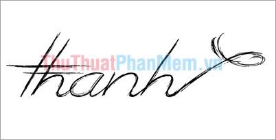 Mẫu chữ ký đẹp tên Thanh