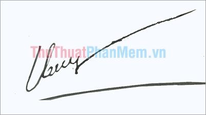Mẫu chữ ký đẹp tên Thủy