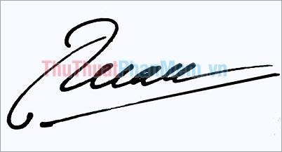 Mẫu chữ ký đẹp tên Tuân