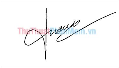 Mẫu chữ ký đẹp tên Tuấn