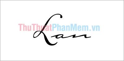 Mẫu chữ ký đơn giản đẹp tên Lan