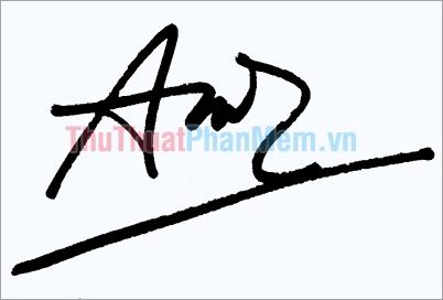 Mẫu chữ ký đơn giản tên Anh