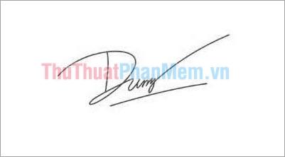 Mẫu chữ ký đơn giản tên Dung