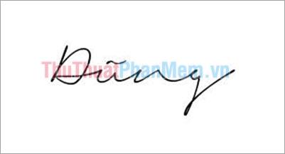 Mẫu chữ ký đơn giản tên Dũng
