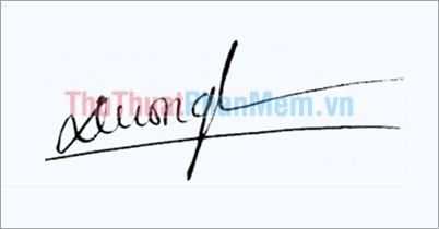 Mẫu chữ ký đơn giản tên Dương