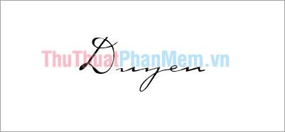 Mẫu chữ ký đơn giản tên Duyên
