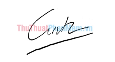 Mẫu chữ ký đơn giản tên Linh