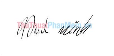 Mẫu chữ ký đơn giản tên Minh