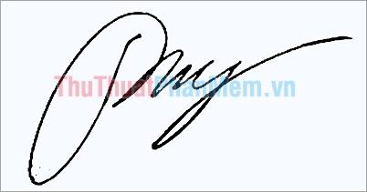 Mẫu chữ ký đơn giản tên My