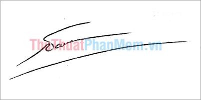 Mẫu chữ ký đơn giản tên Nam