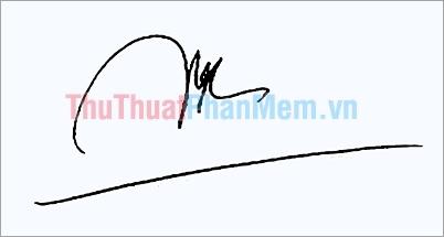 Mẫu chữ ký đơn giản tên Ngọc
