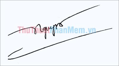 Mẫu chữ ký đơn giản tên Nguyễn