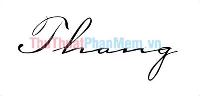 Mẫu chữ ký đơn giản tên Thắng