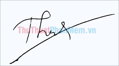 Mẫu chữ ký đơn giản tên Thành đẹp