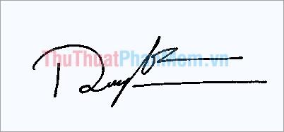 Mẫu chữ ký đơn giản tên Thành Long